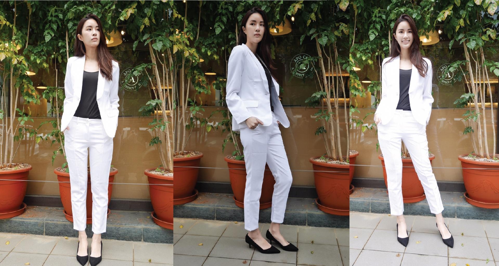 白色套裝拼