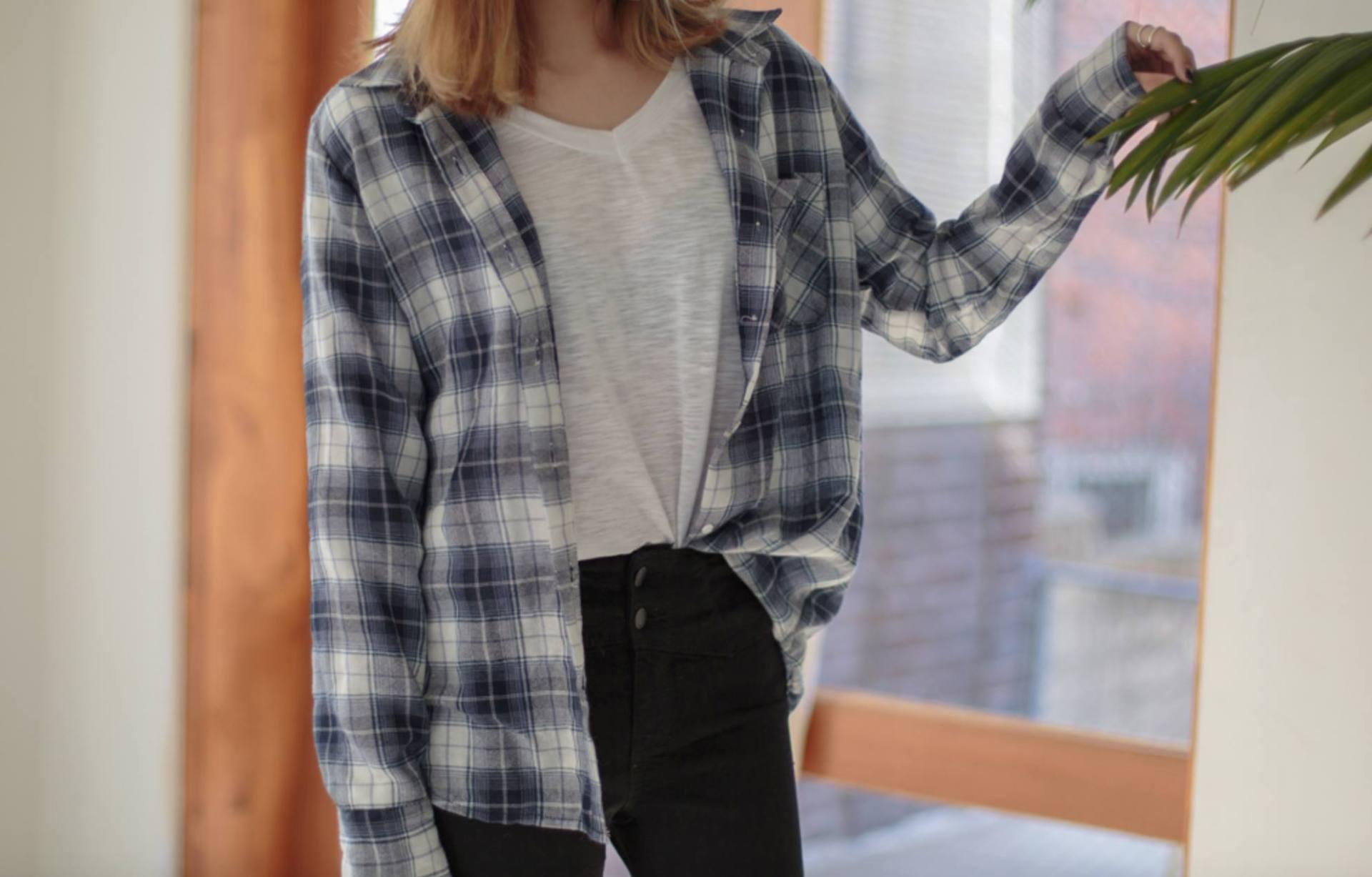 美式休閒風格子襯衫(多色)